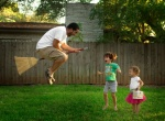 ¡Un papá volador!