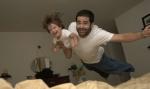 Juan C. Gonzalez y su hijo vuelan juntos.